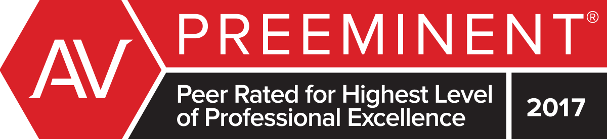 Martindale-Hubbell® Preeminent® Peer Rating for Highest Level of Professional Excellence